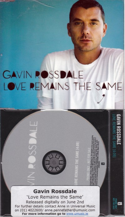 Gavin Rossdale Love Remains The Same CD