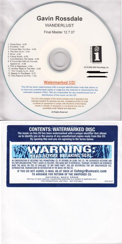 Gavin Rossdale Wanderlust CD